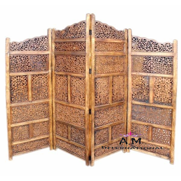 handcrafted wooden room partition