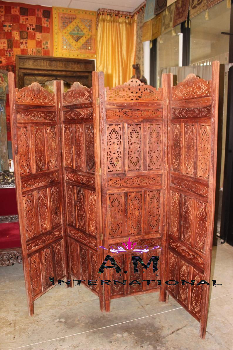 Wooden Folding Room Partition