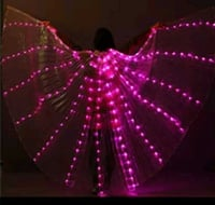 Purple led isis wings