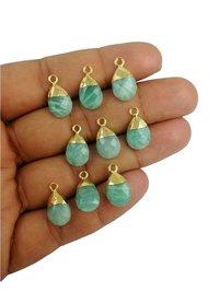 Amazonite Pear Drop Gold Cap Gemstone Pendant