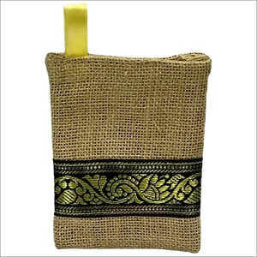 Jute Designer Pouch Bag