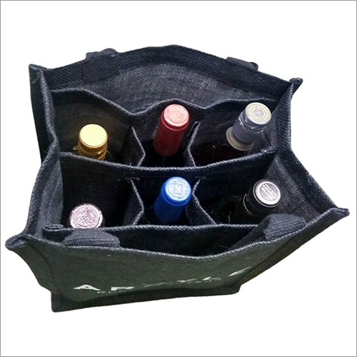 Jute 6 Bottle Wine Bag