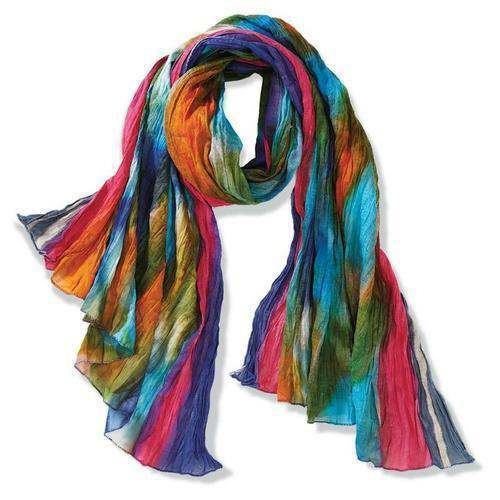 Girls Colored Scarves