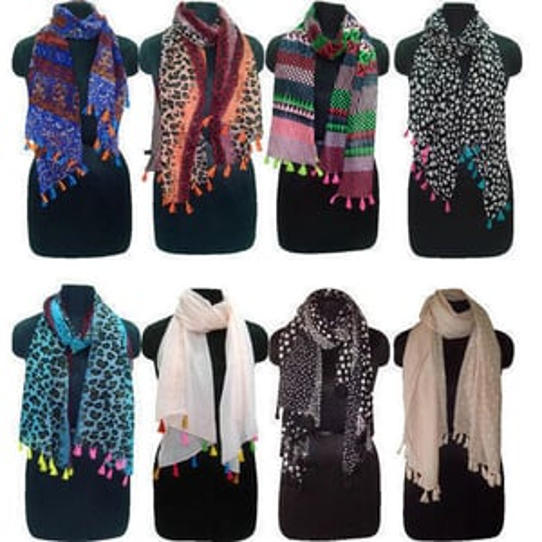 Girls Neck Wrap Silk Scarves
