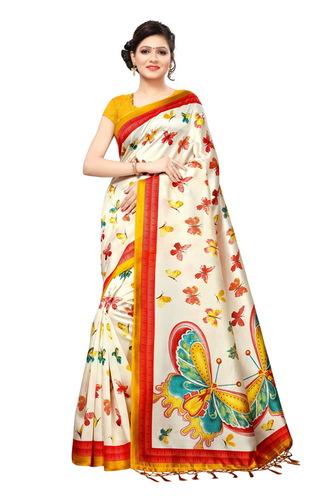 khadi silk with ateche blouse