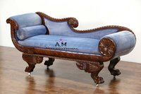 royal design wooden couch