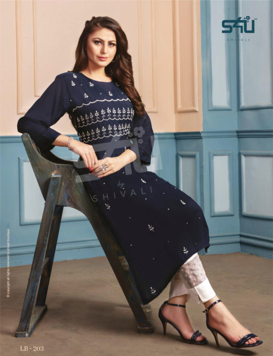 Fancy Designer Kurti With Pant