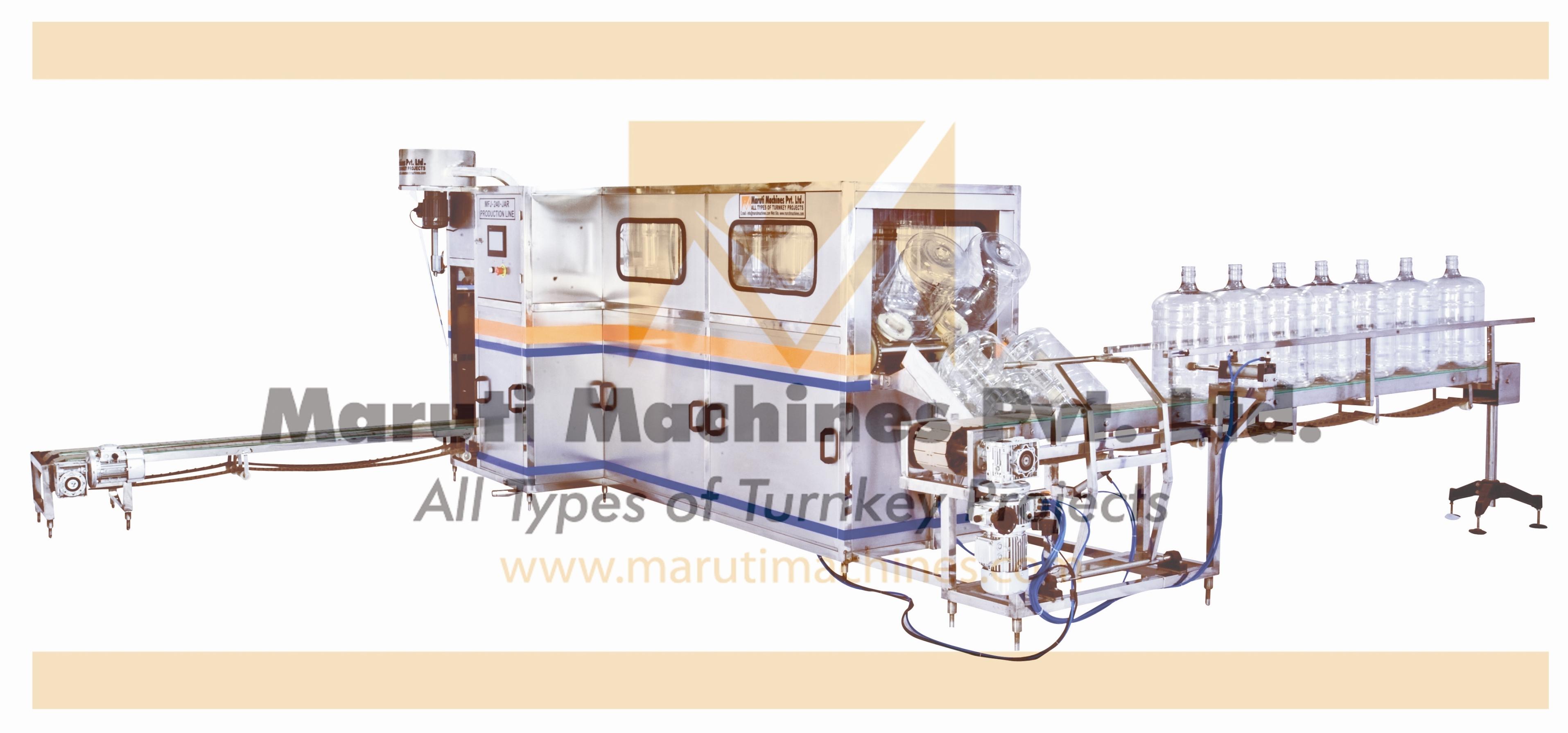 Semi Auto 20 ltr jar filling plant