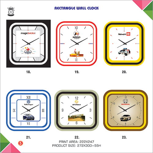 Promotional Rectangle Wall Clock