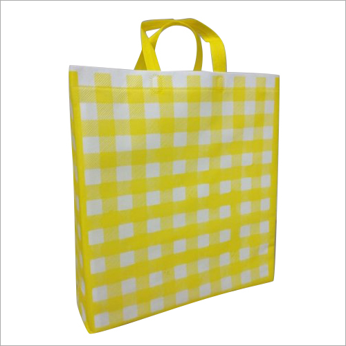 Checked Print Loop Handle Non Woven Bag