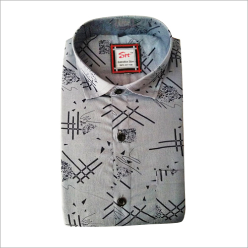 Mens Full Collar Printed Shirt