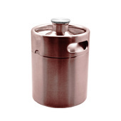 2 Litre Mini Keg-Brushed Copper