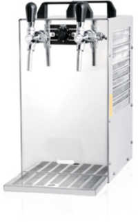 70Ltr-hr 2 Tap Over Counter Beer Cooler With Air Compressor