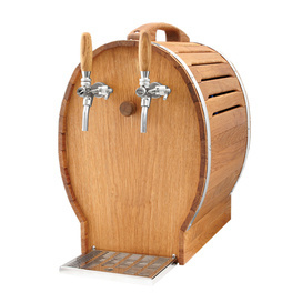 Oak Barrel 2 Tap Over Counter Beer Cooler