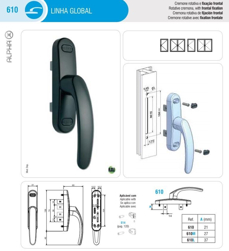 Multi Point Locking Handle For Windows