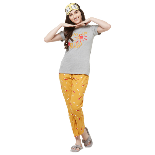 Evolove Womens Printed Pajama T Shirt Sets (EVO26)