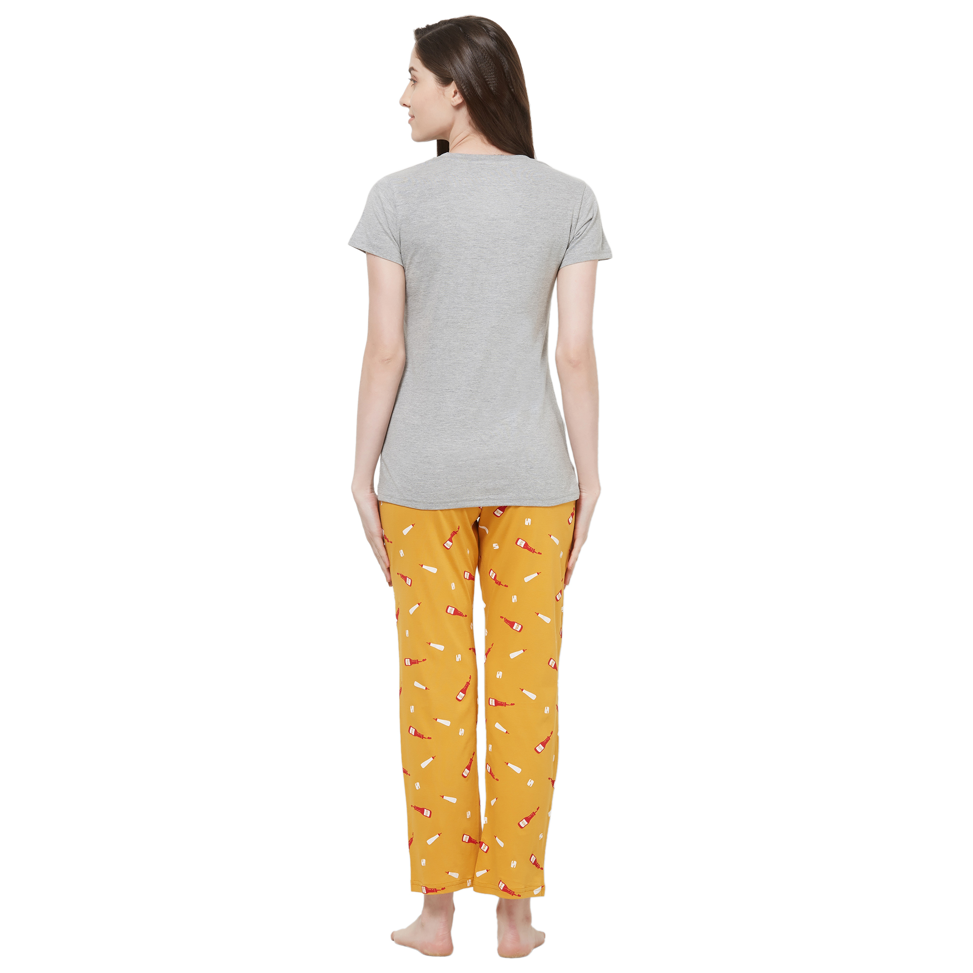 Evolove Womens Printed Pajama T Shirt Sets (EVO26)