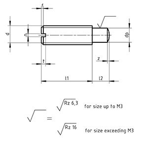 DIN 927 Slotted Shoulder Screws