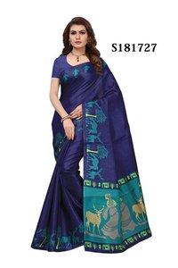 new sareeprinted  khadi silk saree