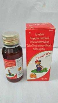 Paracetamol, Phenylephine Hydrochloride & Chorpheniamine Maleate, Sodium Citrate, Ammonium Chloride & Menthol Suspension