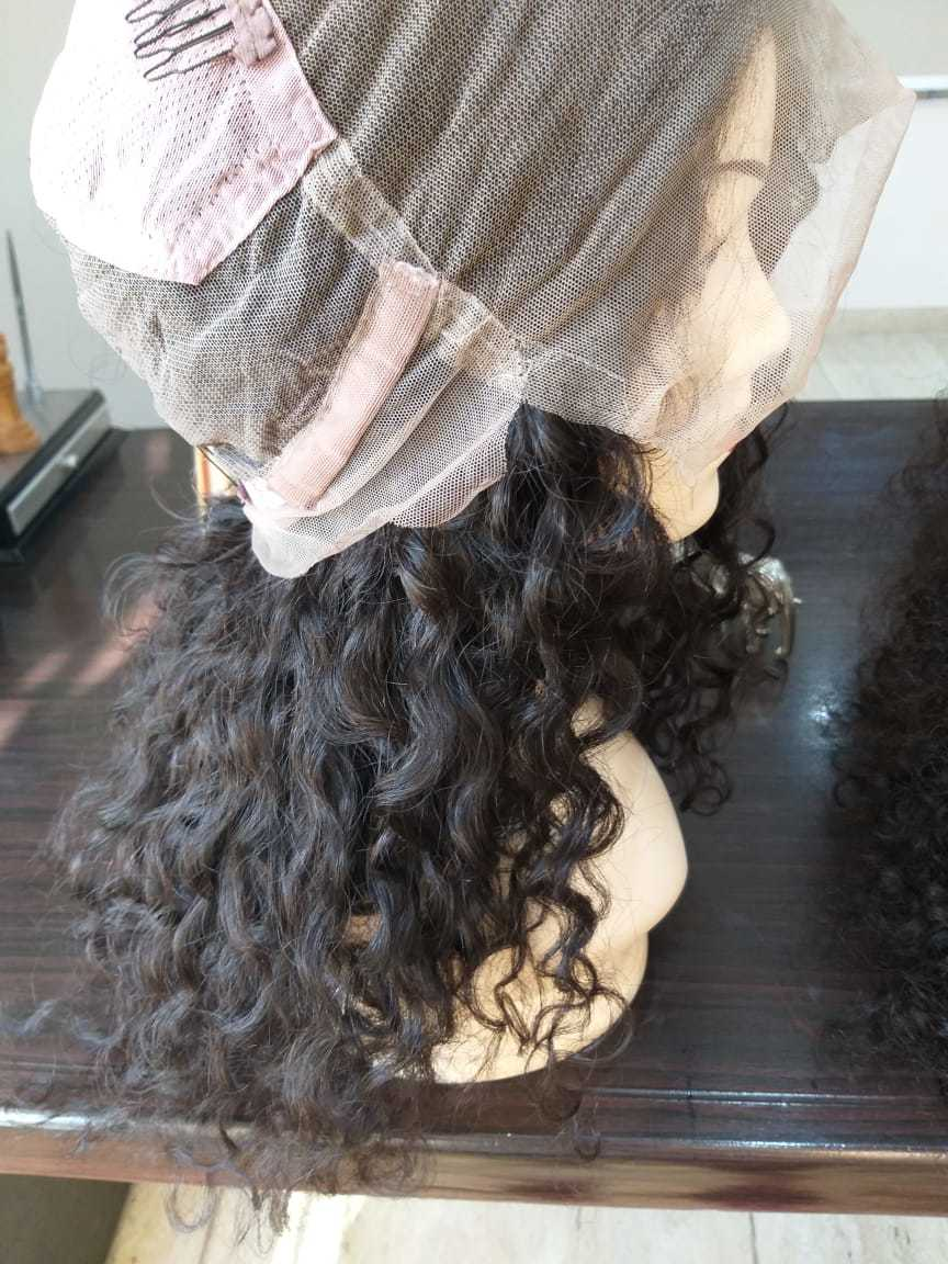 Raw vintage Straight transparent lace wig