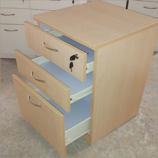 Three Rack Wooden Brown Drawer