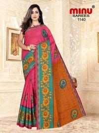 Minu Cotton Printed Fancy Saree