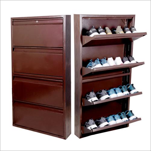 4 Shelf Wall Mounted Shoe Rack