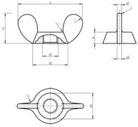 DIN 315A  Wing nuts with rectangular wings