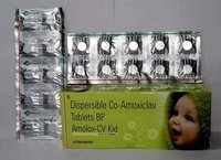 Amoxycillin  200 mg Potassium clavulanate 28.5 mg Kid Tablet