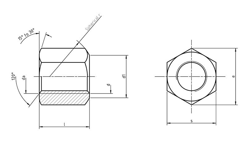 DIN6330 Hexagon nut