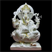 Marble Lord Gajanan Statue