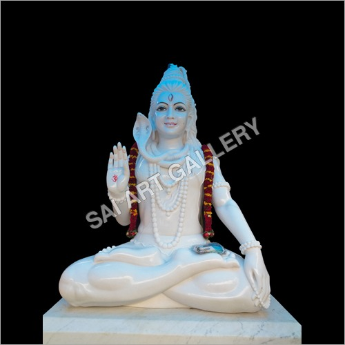 White Marble Lord Mahadev Statue