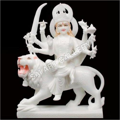 White Marble Maa Durga Statue