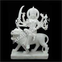 White Maa Durga Statue