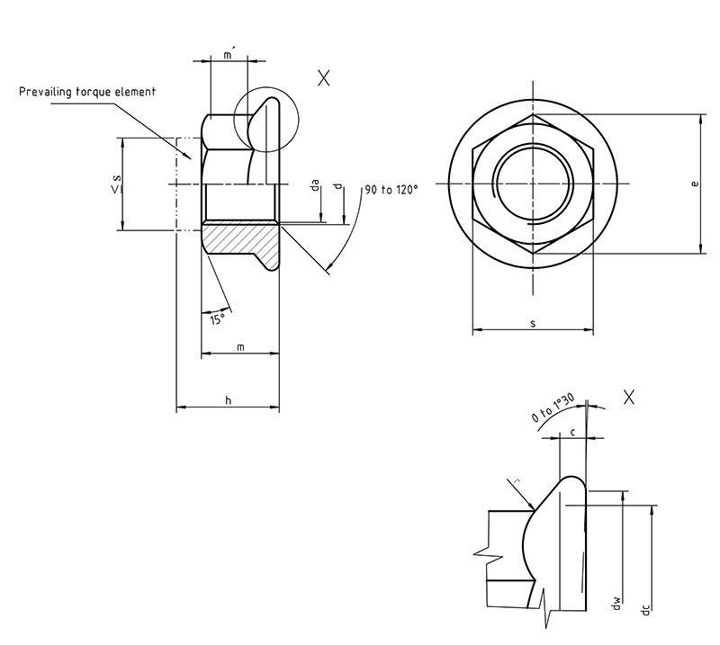 DIN6926 Hexagon flange lock nut