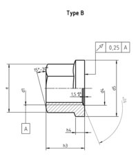 DIN 74361b Flat collar nut form B