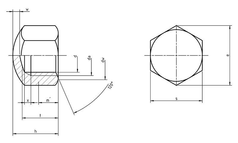 DIN 917 Hexagon Cup Nut
