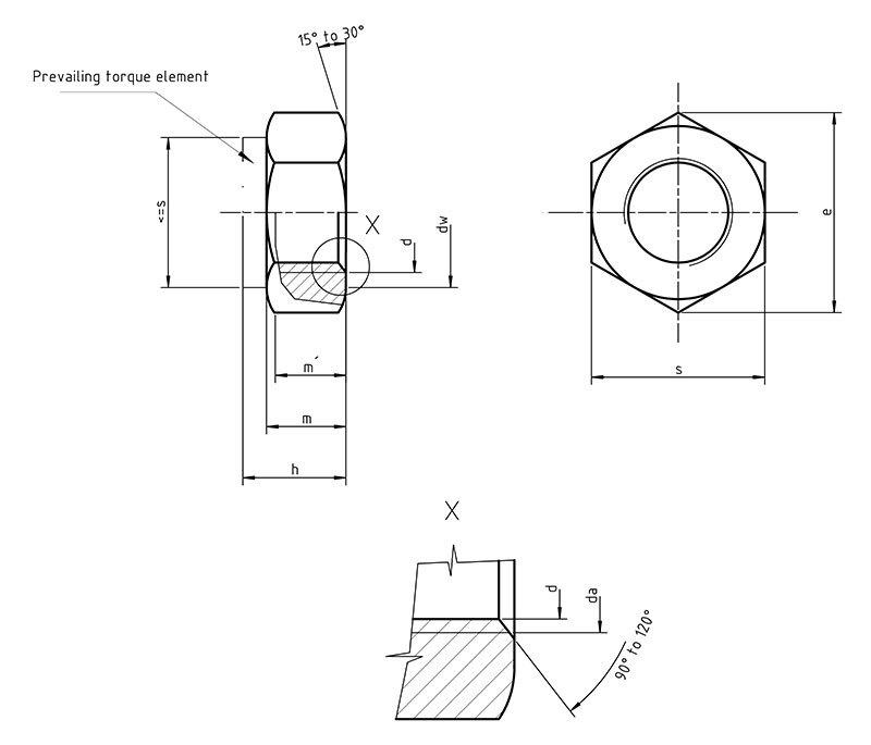 DIN 985 Nylon Insert Lock Nut