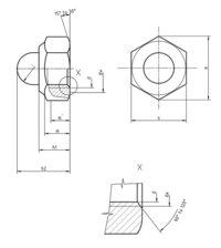 DIN 986 Prevailing torque hexagon domed nut