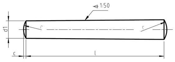 DIN 1 Taper Pin