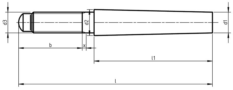 DIN 258 Taper pin with external thread