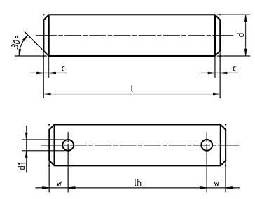 DIN 1443 Clevis pins without head