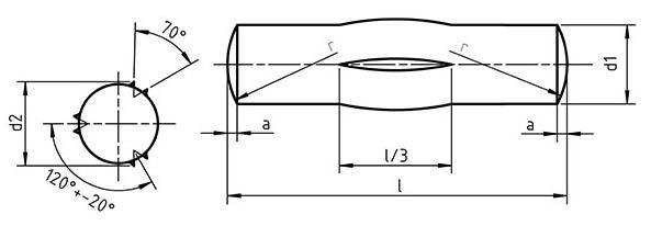 DIN 1475 Grooved Pin Third Length Centre grooved