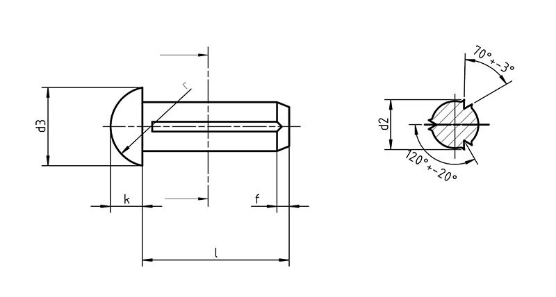 DIN 1476 Round Head Grooved Pin