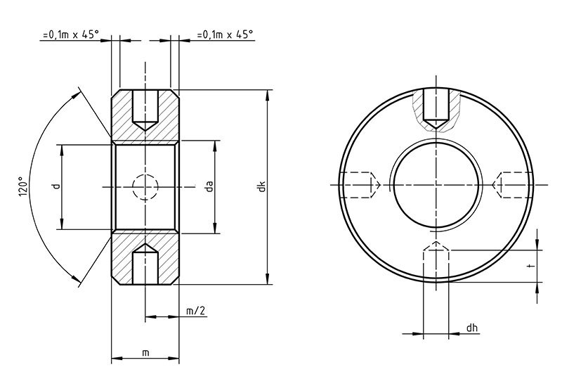 DIN 548 Round nuts with set pin holes in side