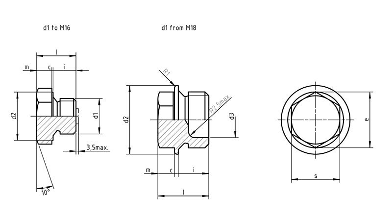 DIN 7604 A Hexagon head pipe plug