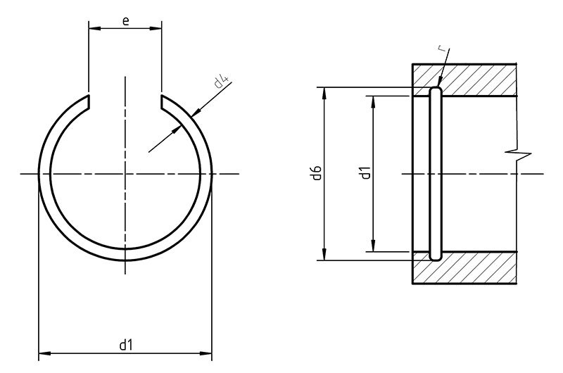 DIN 7993B  Internal Snap Ring