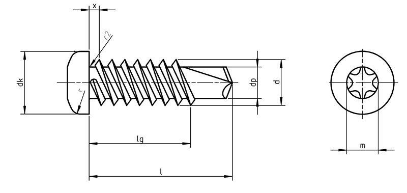 DIN 7504NTX Self Drilling screws