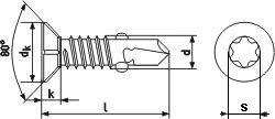 DIN 7504Otx Self Drilling screws